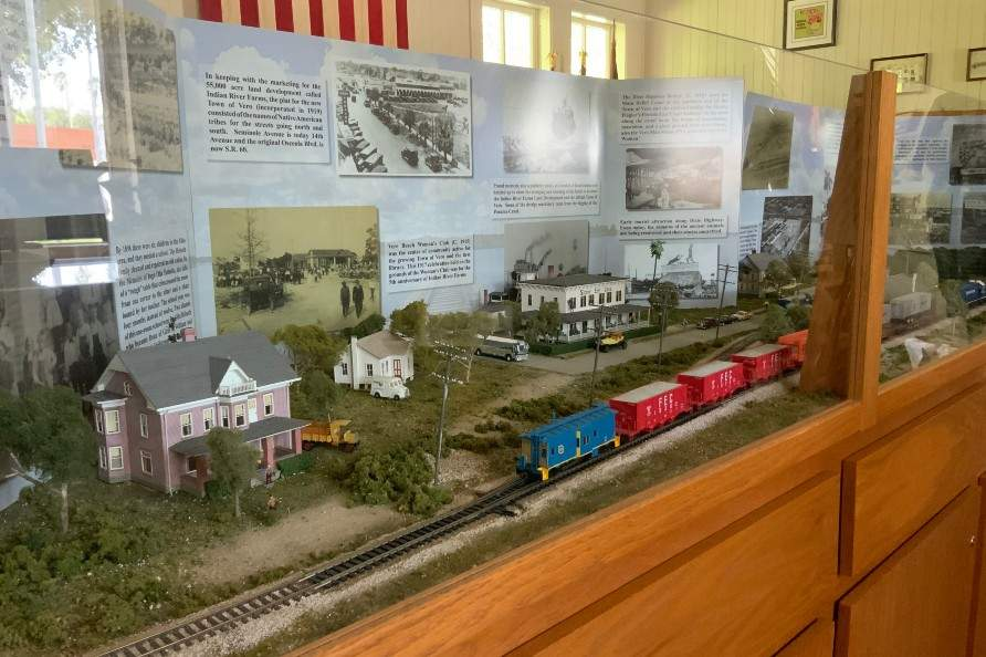 Railroad model exhibit